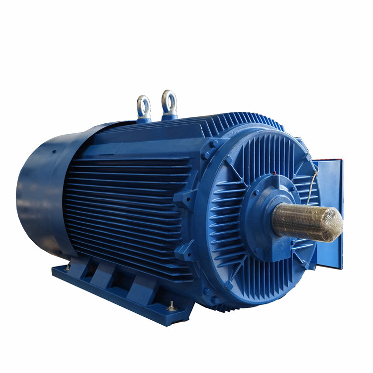 Low voltage high power squirrel cage motor